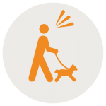 dog hiking icon