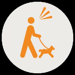 dog hiking icon