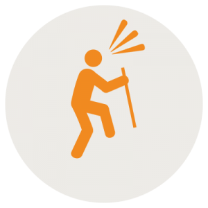 solo hiking icon